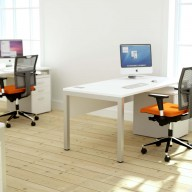 Bench Squared Deskits Rectangular Single Desk