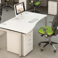Bench Wave Single Desk