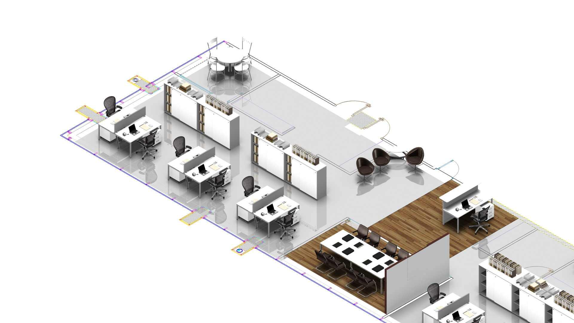 2D & 3D CAD Rendered Images | Richardsons Office Furniture and Supplies