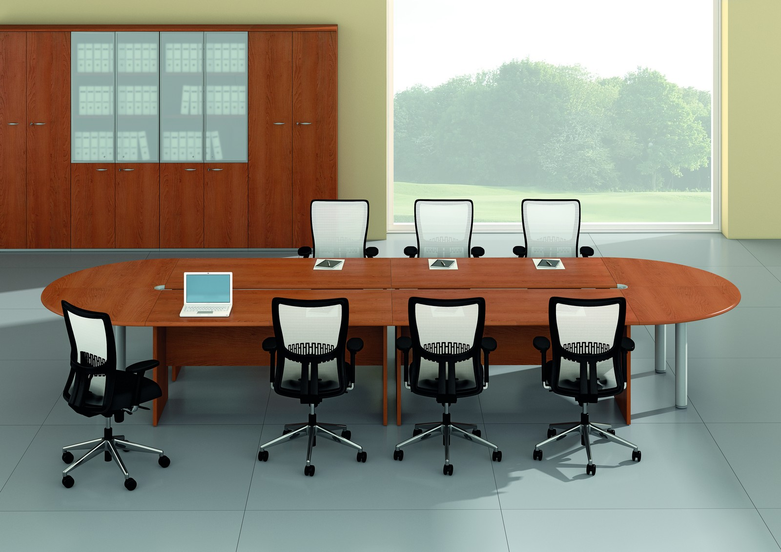 21 innovative office furniture meeting tables. Black Bedroom Furniture Sets. Home Design Ideas