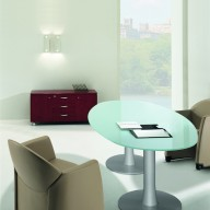 X Time Work Glass Executive Desk  (1)