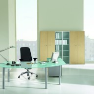 X Time Work Glass Executive Desk  (10)