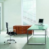 X Time Work Glass Executive Desk  (17)