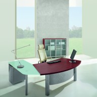 X Time Work Glass Executive Desk  (19)