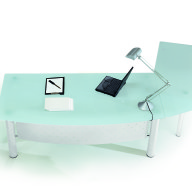 X Time Work Glass Executive Desk  (3)