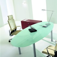 X Time Work Glass Executive Desk  (30)