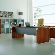 X Time Work Glass Executive Desk  (38)