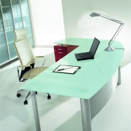 X Time Work Glass Executive Desk  (40)