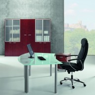 X Time Work Glass Executive Desk  (9)