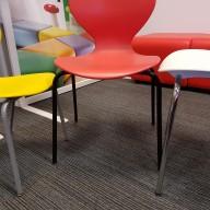 Silver - Chrome - Black Legs Mata Chair