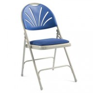 2600 Polyfold Upholstered Folding Chair - Comfort Back, Linking