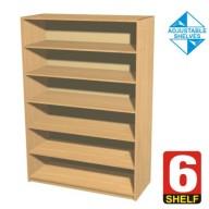 6 Shelf Bookcase - 600mm wide