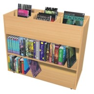 Double Sided Mobile Book Trolley