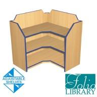 Folio 3ft Corner Bookcase