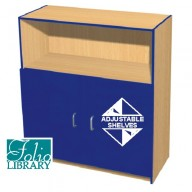 Folio 4ft Flat Top Library Cupboard
