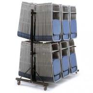 Polyfold High Hanging Storage Trolleys - Three Rows