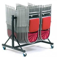 Polyfold Low Hanging Storage Trolley - Two Rows