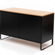 black-sideboard-side-on-wooden-view