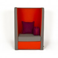 busby-chair-left-arm-orange-and-grey-fabric