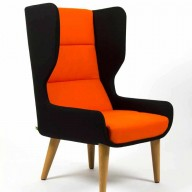 hush-black-and-orange-with-wood-legs-side-view-low