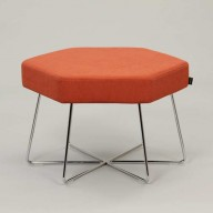 pollen-stool-on-chrome-base-upholstered-in-Camira-Halcyon-Poplar-Tiger