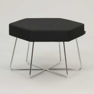 pollen-stool-on-chrome-base-upholstered-in-Camira-Intervene-Texture