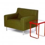 silhouette-armchair-profile-arm-green-divina-fabric-and-red-trace-side-tablelow-res