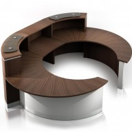 Crescent Reception Desk - Reception Counter (2)