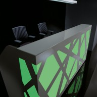 Zig Zag Reception Counter  Reception Desk Bradford - Leeds Richardsons (15)