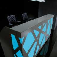 Zig Zag Reception Counter  Reception Desk Bradford - Leeds Richardsons (8)