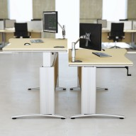Rise Manual & Motor Driven Height Adjustable Desking (18)
