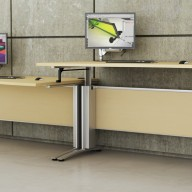 Rise Manual & Motor Driven Height Adjustable Desking (22)