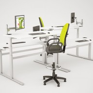 Rise Manual & Motor Driven Height Adjustable Desking (26)