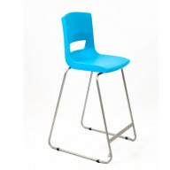 PosturaPlus 685mm High Back Stool - Aqua Blue-Display