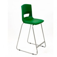 PosturaPlus 685mm High Back Stool - Forest Green-Display