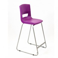 PosturaPlus 685mm High Back Stool - Grape Crush-Display