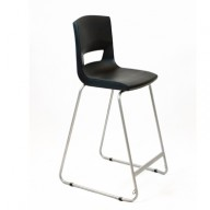 PosturaPlus 685mm High Back Stool - Jet Black-Display