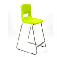 PosturaPlus 685mm High Back Stool - Lime Zest-Display
