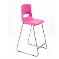PosturaPlus 685mm High Back Stool - Pink Candy-Display