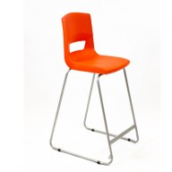 PosturaPlus 685mm High Back Stool - Poppy Red-Display