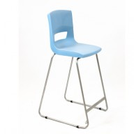PosturaPlus 685mm High Back Stool - Powder Blue-Display