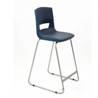 PosturaPlus 685mm High Back Stool - Slate Grey-Display