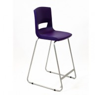 PosturaPlus 685mm High Back Stool - Sugar Plum-Display