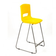 PosturaPlus 685mm High Back Stool - Sun Yellow-Display