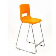 PosturaPlus 685mm High Back Stool - Tangerine Fizz-Display