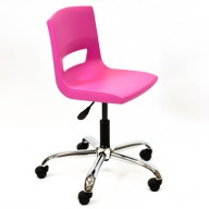 PosturaPlus Task Chair Chrome Casters - Pink Candy-Display