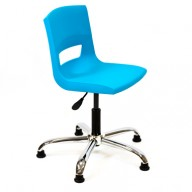 PosturaPlus Task Chair Chrome Glides - Aqua Blue-Display