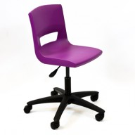 PosturaPlus Task Chair Poly Casters - Grape Crush-Display