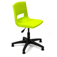 PosturaPlus Task Chair Poly Glides - Lime Zest-Display