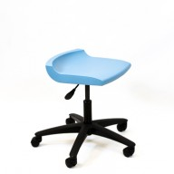 PosturaPlus Task Stool Poly Casters - Powder Blue-Display